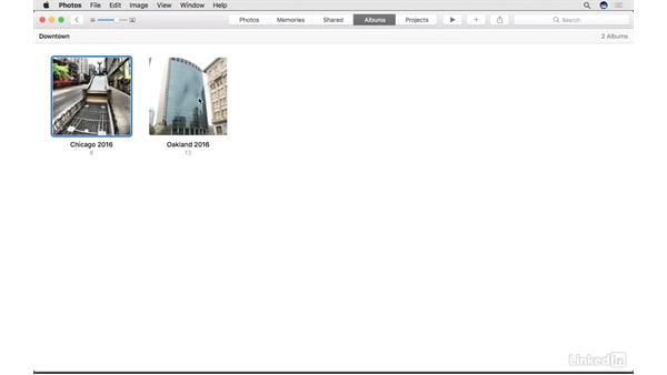 Choose a key photo for your album: Photos for macOS Essential Training