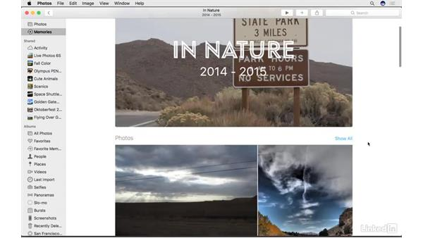 Share Memories with others: Photos for macOS Essential Training