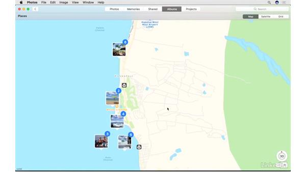 Work in the Places album: Photos for macOS Essential Training