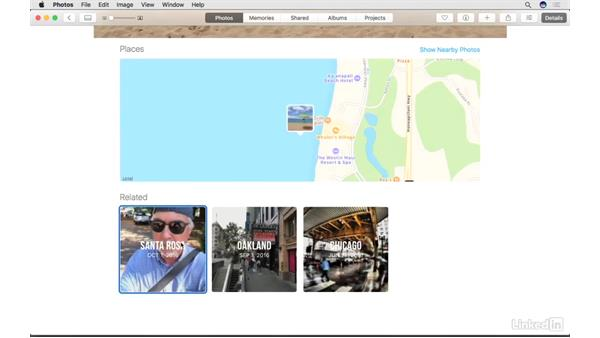 How the Details view works: Photos for macOS Essential Training