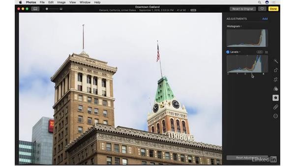 Enable and work with Levels: Photos for macOS Essential Training