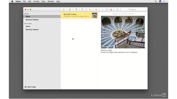 Send images to your Notes app: Photos for macOS Essential Training