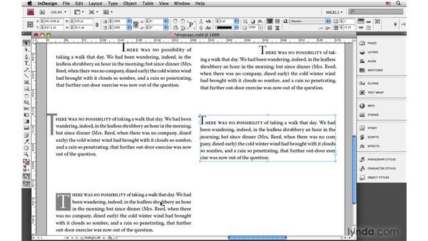 Drop-cap examples: InDesign CS4: Typography
