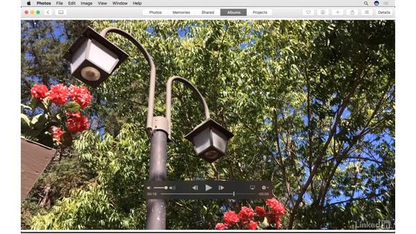 Set a poster frame for a video: Photos for macOS Essential Training