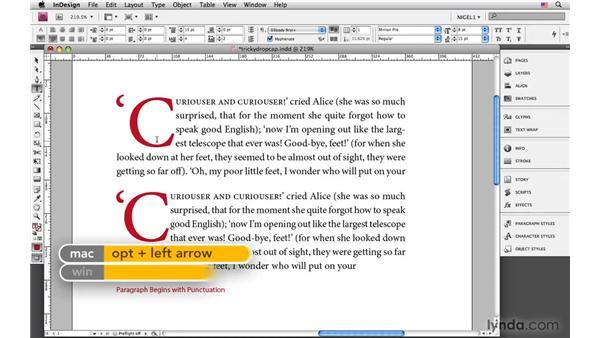 Navigating tricky drop caps: InDesign CS4: Typography