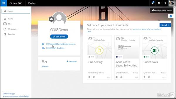 Use Delve: Office 365: Provision SharePoint Online Site Collections