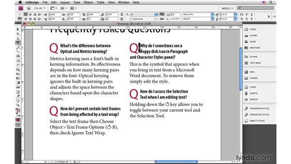 Other uses of drop caps: InDesign CS4: Typography