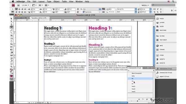 Establishing hierarchy: InDesign CS4: Typography