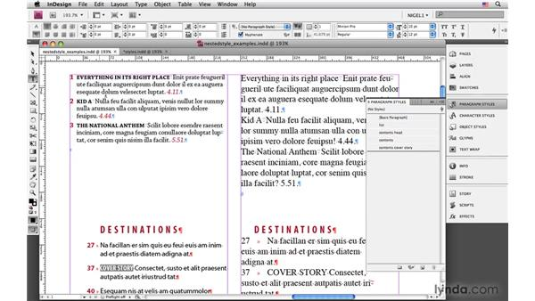 Creating nested styles: InDesign CS4: Typography
