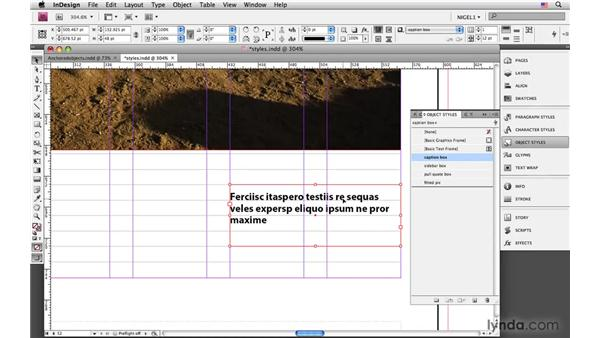 Styling callout boxes and fitting pictures with object styles: InDesign CS4: Typography