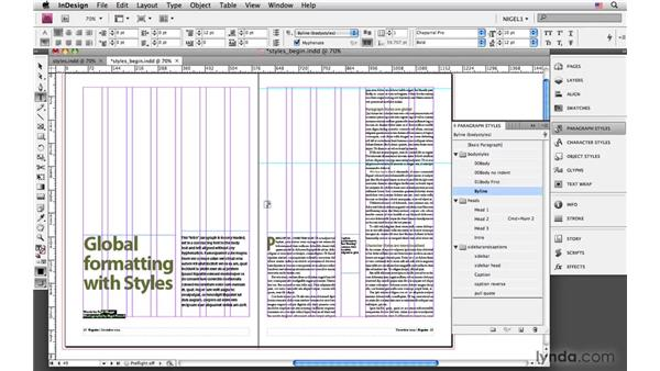 Repurposing styles from other documents: InDesign CS4: Typography