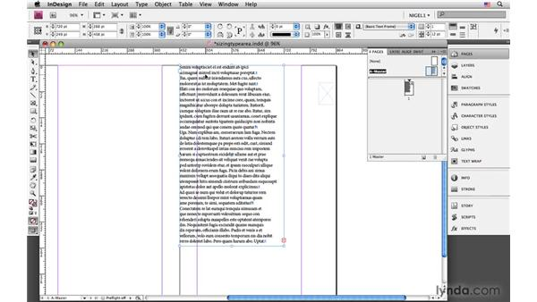 Determining the size of your type area: InDesign CS4: Typography