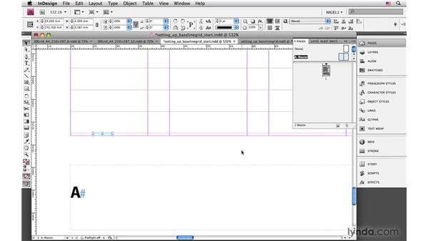 Ensuring cross-alignment with baseline grids: InDesign CS4: Typography