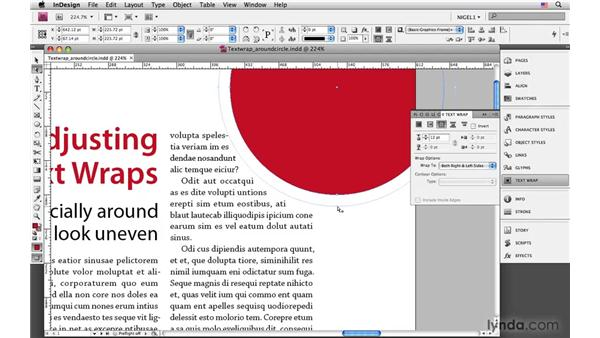 Manually adjusting the text-wrap offset: InDesign CS4: Typography