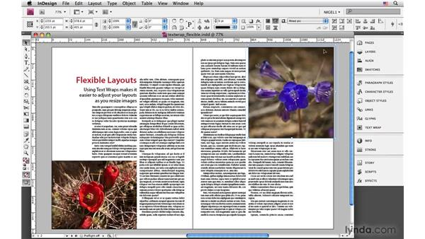 Using text wraps for flexible layouts: InDesign CS4: Typography