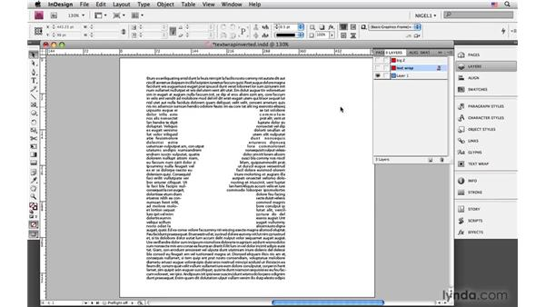 Creating inverted text wraps: InDesign CS4: Typography