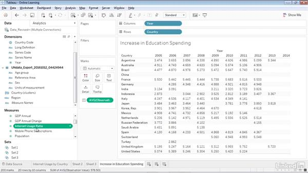 Using level of detail (LOD) variables in calculations: Creating Interactive Dashboards in Tableau 10