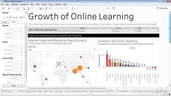 Iterations and improvements: Creating Interactive Dashboards in Tableau 10