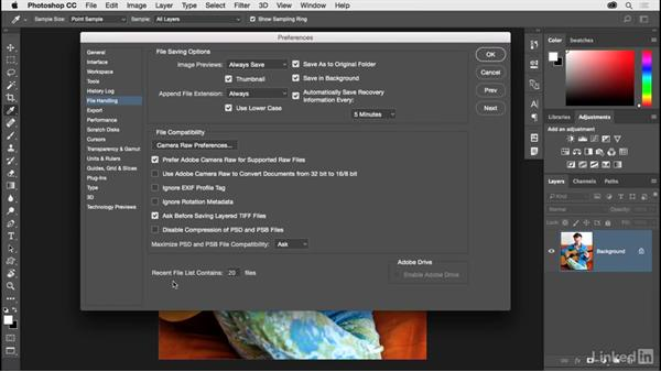 Fine-tuning your preferences: Photoshop CC 2017 for Photographers