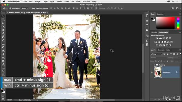 Resizing an image to a smaller size: Photoshop CC 2017 for Photographers
