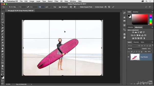 Solution: Resizing a photo for print and online: Photoshop CC 2017 for Photographers