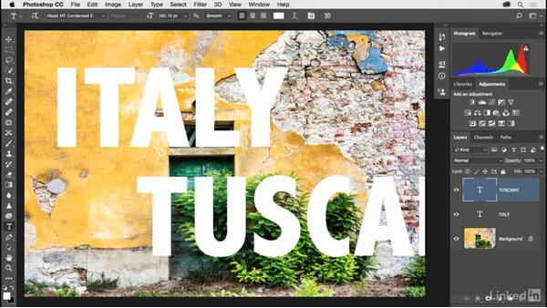 Working with type layers: Photoshop CC 2017 for Photographers