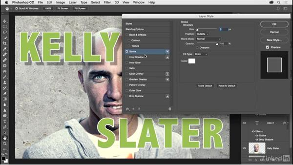 Applying layer style effects: Photoshop CC 2017 for Photographers