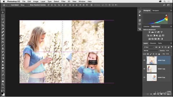 Combining multiple images and creating a color border: Photoshop CC 2017 for Photographers