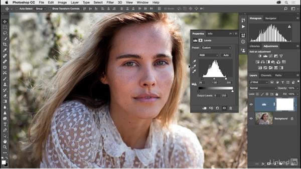 Fixing exposure with Levels: Photoshop CC 2017 for Photographers