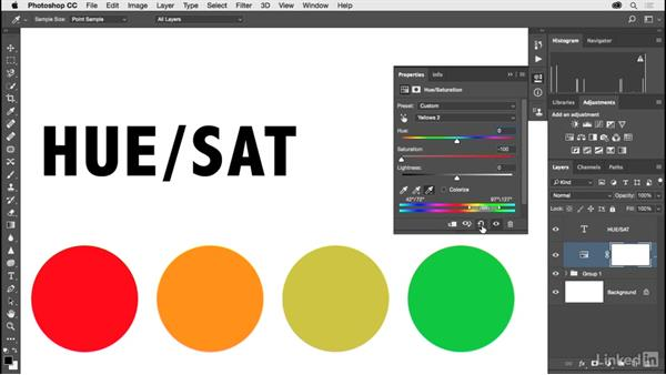 Fine-tuning color with Hue and Saturation: Photoshop CC 2017 for Photographers