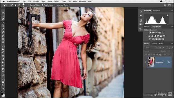 Changing the color of a dress: Photoshop CC 2017 for Photographers