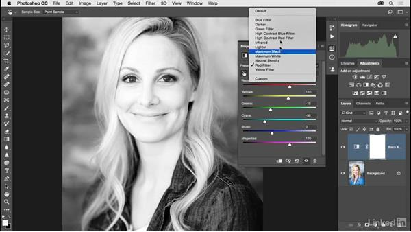 Making a strong black-and-white portrait: Photoshop CC 2017 for Photographers
