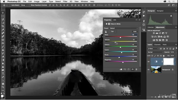 Creating better black-and-white landscape photographs: Photoshop CC 2017 for Photographers