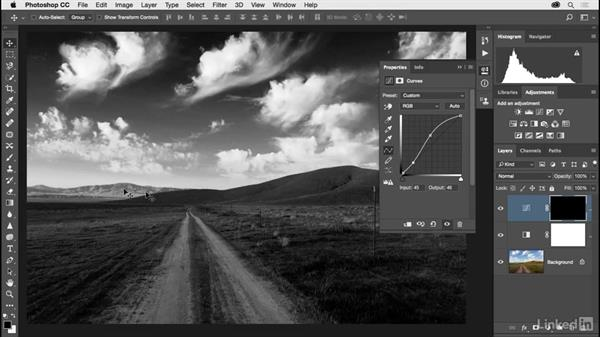 Solution: Black-and-white landscape: Photoshop CC 2017 for Photographers