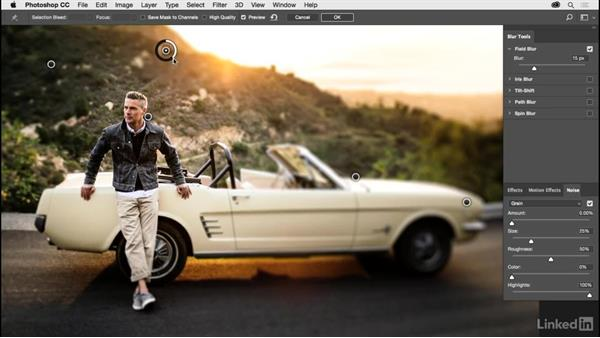 Changing focus with the Blur Gallery: Photoshop CC 2017 for Photographers