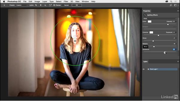Adding light with lighting effects: Photoshop CC 2017 for Photographers