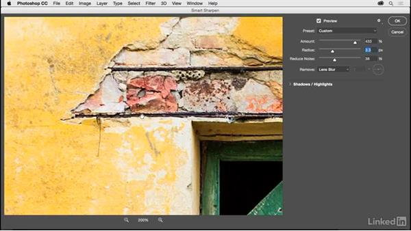 Sharpening your photos with Smart Sharpen: Photoshop CC 2017 for Photographers