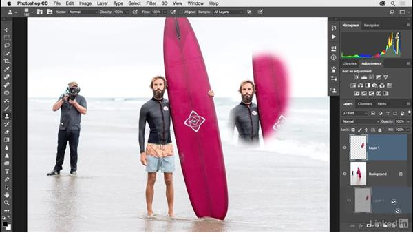Removing an object with Clone Stamp: Photoshop CC 2017 for Photographers