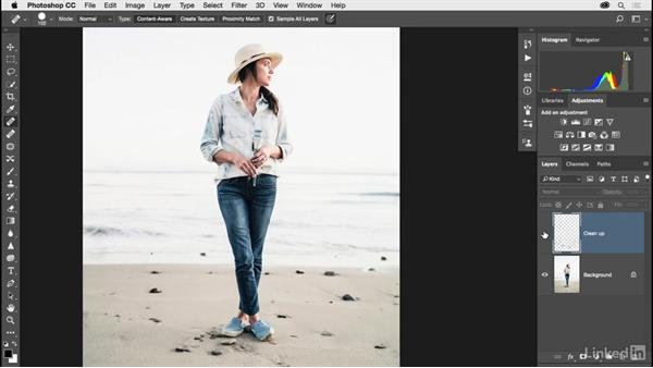 Quick results with the Spot Healing tool: Photoshop CC 2017 for Photographers
