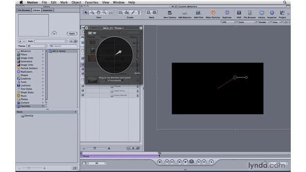Saving custom behaviors to animate stills: Motion 4 Essential Training