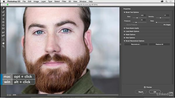 Changing shape with Liquify: Photoshop CC 2017 for Photographers