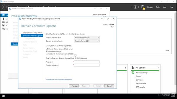 Installing Active Directory Domain Services (AD DS): Windows Server 2016: Install and Configure Active Directory