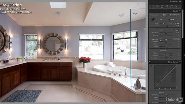 Editing the final image selections: Real Estate Photography: Master Bathrooms