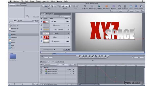 Manipulating keyframes with the Keyframe Editor: Motion 4 Essential Training