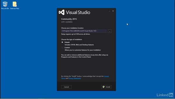 Install Visual Studio 2015 community: Building Web APIs with ASP.NET Core
