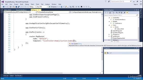Template routing in ASP.NET Core MVC: Building Web APIs with ASP.NET Core