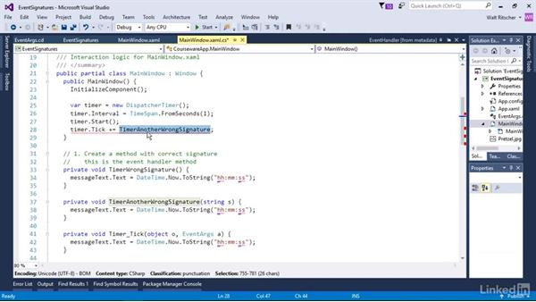 Understand event signatures: Windows Presentation Foundation 3: Events and the Event Model