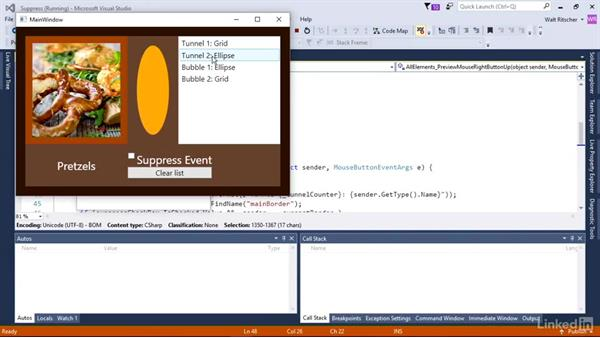 Suppress events as they traverse the element tree: Windows Presentation Foundation 3: Events and the Event Model