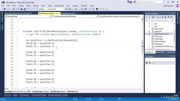 Use the MouseMove event: Windows Presentation Foundation 3: Events and the Event Model