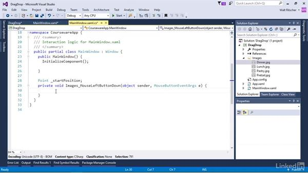 Start a drag operation: Windows Presentation Foundation 3: Events and the Event Model